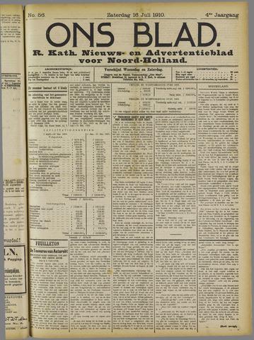 Ons Blad : katholiek nieuwsblad voor N-H 1910-07-16