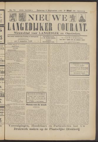 Nieuwe Langedijker Courant 1920-09-11