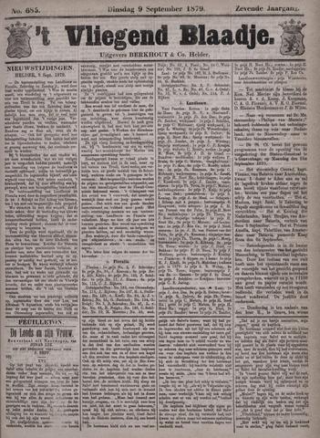 Vliegend blaadje : nieuws- en advertentiebode voor Den Helder 1879-09-09