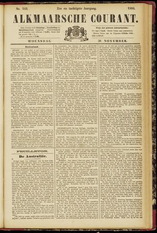 Alkmaarsche Courant 1884-11-26