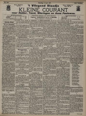 Vliegend blaadje : nieuws- en advertentiebode voor Den Helder 1907-04-13