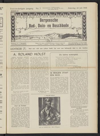 Bergensche bad-, duin- en boschbode 1948-07-24