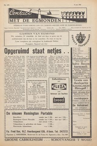 Contact met de Egmonden 1961-06-08