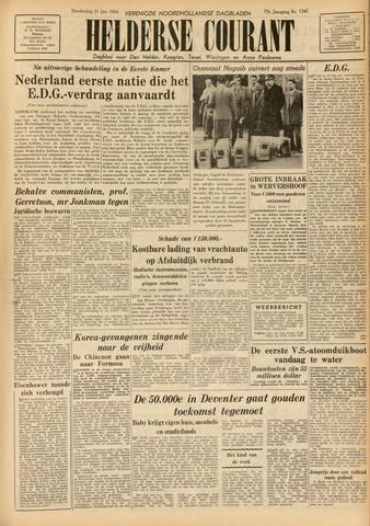 Heldersche Courant 1954-01-21