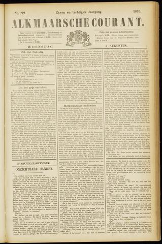 Alkmaarsche Courant 1885-08-05