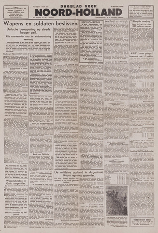 Dagblad Noord-Holland, Schager editie 1943-06-07