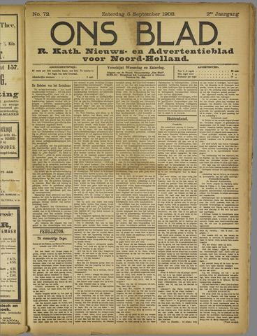 Ons Blad : katholiek nieuwsblad voor N-H 1908-09-05