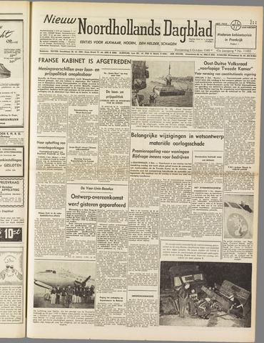 Nieuw Noordhollandsch Dagblad : voor Alkmaar en omgeving 1949-10-06