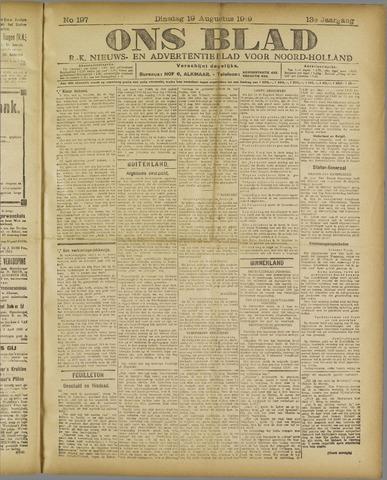 Ons Blad : katholiek nieuwsblad voor N-H 1919-08-19