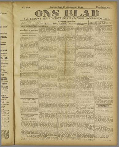 Ons Blad : katholiek nieuwsblad voor N-H 1919-08-14