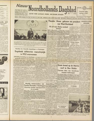 Nieuw Noordhollandsch Dagblad : voor Alkmaar en omgeving 1949-09-13