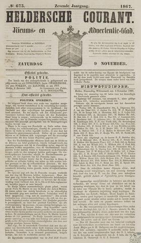 Heldersche Courant 1867-11-09