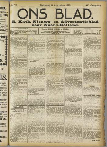 Ons Blad : katholiek nieuwsblad voor N-H 1912-08-03