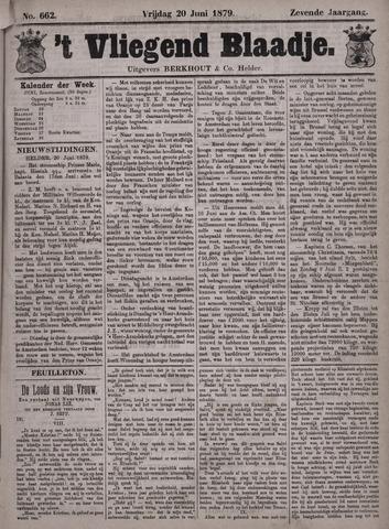 Vliegend blaadje : nieuws- en advertentiebode voor Den Helder 1879-06-20