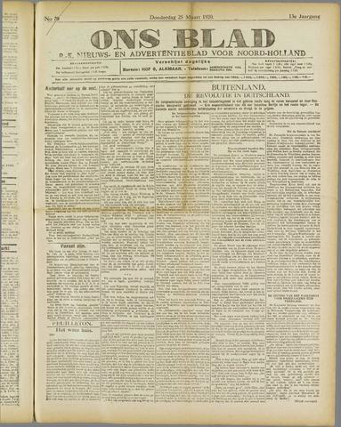 Ons Blad : katholiek nieuwsblad voor N-H 1920-03-25