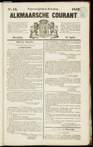 Alkmaarsche Courant 1857-04-13