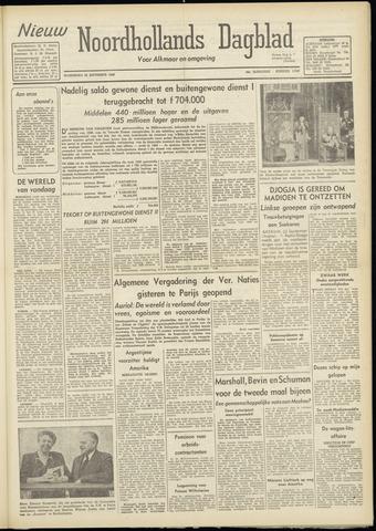 Nieuw Noordhollandsch Dagblad : voor Alkmaar en omgeving 1948-09-22