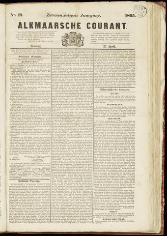 Alkmaarsche Courant 1865-04-23
