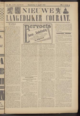 Nieuwe Langedijker Courant 1924-04-03