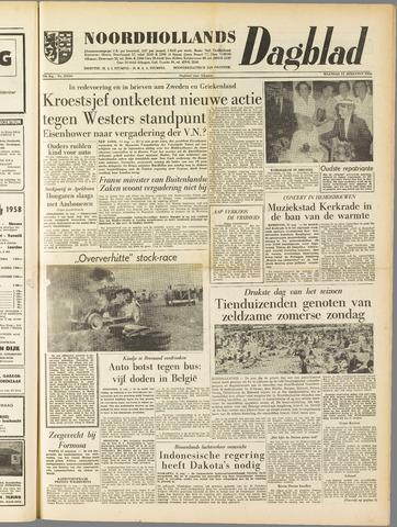 Noordhollands Dagblad : dagblad voor Alkmaar en omgeving 1958-08-11