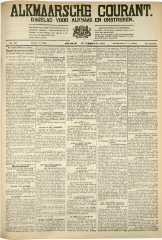 Alkmaarsche Courant 1930-02-25