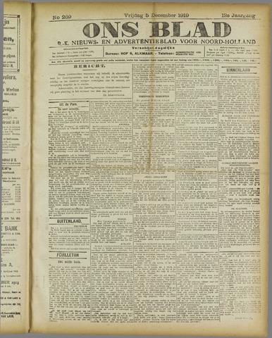 Ons Blad : katholiek nieuwsblad voor N-H 1919-12-05