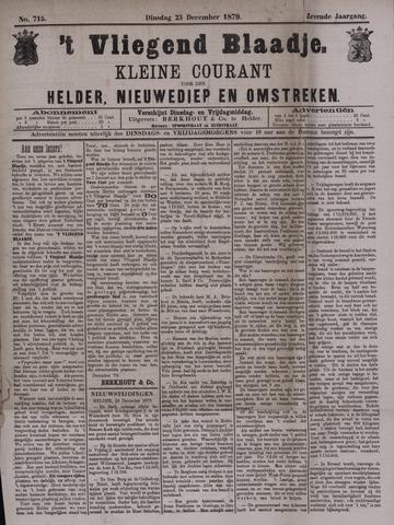 Vliegend blaadje : nieuws- en advertentiebode voor Den Helder 1879-12-23
