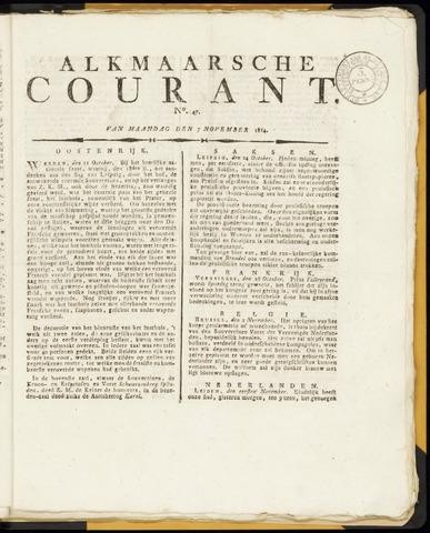 Alkmaarsche Courant 1814-11-07
