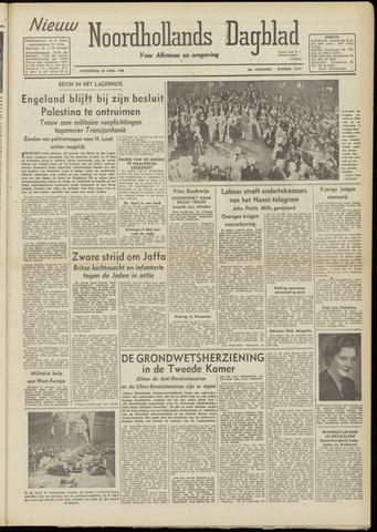 Nieuw Noordhollandsch Dagblad : voor Alkmaar en omgeving 1948-04-29