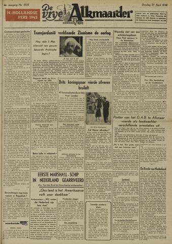 De Vrije Alkmaarder 1948-04-27
