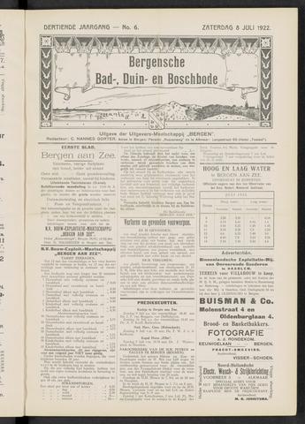 Bergensche bad-, duin- en boschbode 1922-07-08