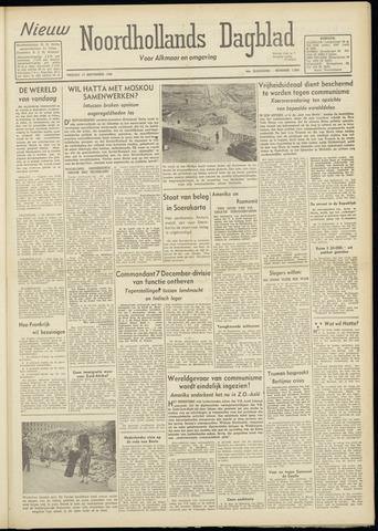Nieuw Noordhollandsch Dagblad : voor Alkmaar en omgeving 1948-09-17