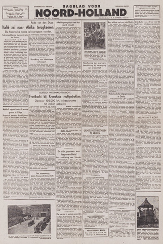 Dagblad Noord-Holland, Schager editie 1943-05-06