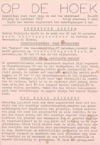 Op De Hoek, weekblad voor Akersloot 1963-11-22