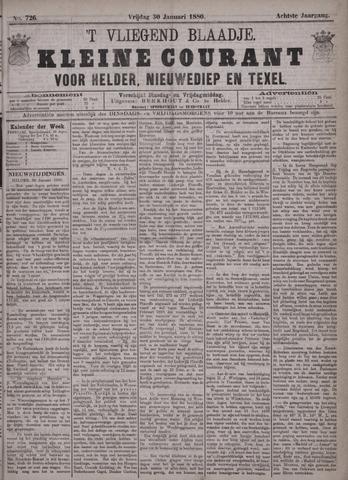 Vliegend blaadje : nieuws- en advertentiebode voor Den Helder 1880-01-30