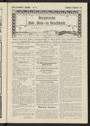Bergensche bad-, duin- en boschbode 1931-08-15