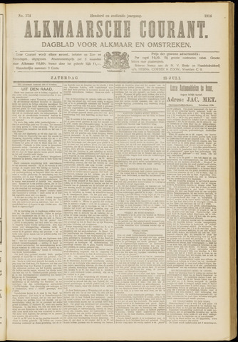 Alkmaarsche Courant 1914-07-25