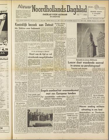 Nieuw Noordhollandsch Dagblad : voor Alkmaar en omgeving 1952-04-16