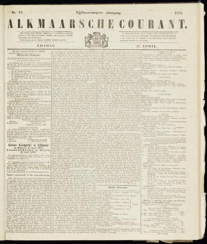 Alkmaarsche Courant 1873-04-13