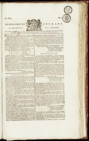 Alkmaarsche Courant 1833-01-07