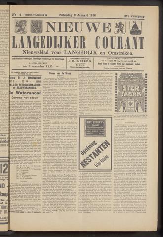 Nieuwe Langedijker Courant 1926-01-09