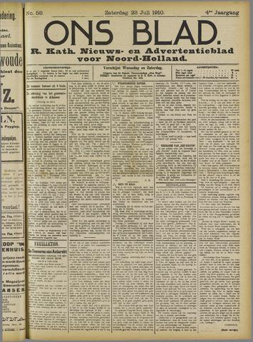 Ons Blad : katholiek nieuwsblad voor N-H 1910-07-23