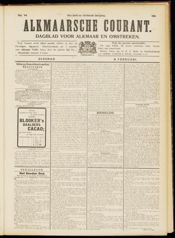Alkmaarsche Courant 1911-02-21