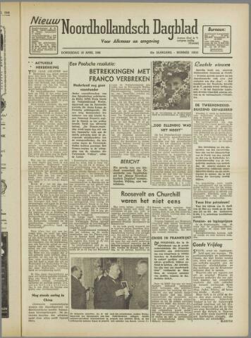 Nieuw Noordhollandsch Dagblad : voor Alkmaar en omgeving 1946-04-18