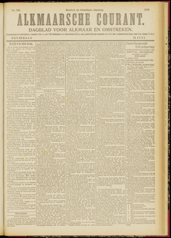 Alkmaarsche Courant 1918-06-13