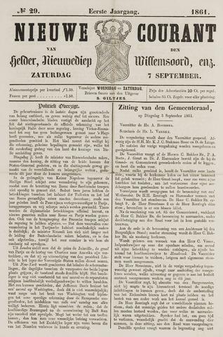 Nieuwe Courant van Den Helder 1861-09-07