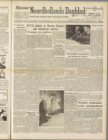 Nieuw Noordhollandsch Dagblad : voor Alkmaar en omgeving 1949-12-20