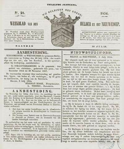 Weekblad van Den Helder en het Nieuwediep 1854-07-10