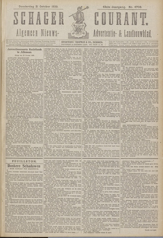 Schager Courant 1920-10-21
