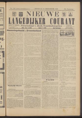 Nieuwe Langedijker Courant 1929-12-10